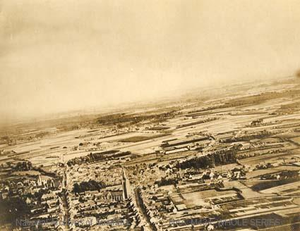 Aerial photograph of Ypres? before bombardment June 1917 ? R V MORSE.