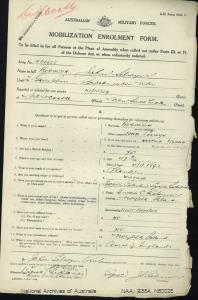 ROBINSON JOHN SELWYN : Service Number - N60028 : Date of birth - 04 Jan 1892 : Place of birth - NORFOLK ISLAND NSW : Place of enlistment - BROADMEADOWS NSW : Next of Kin - ROBINSON ENOCH