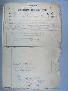 CARTWRIGHT GEORGE : Service Number - N60360 : Date of birth - 09 Dec 1894 : Place of birth - STH KENSINGTON ENGLAND : Place of enlistment - LIVERPOOL NSW : Next of Kin - CARTWRIGHT ELSIE