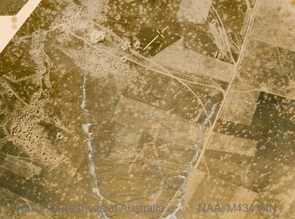 Aerial photographs of particular World War I battles and areas under bombardment.   [Black and white  Print - sub item -Bombs bursting].