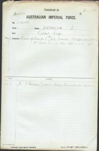 BRANSON J - Labour Corps - died of wounds 3 July 1918