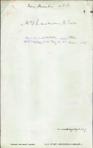 ERICKSON-WHEELER A (Mrs) - returning to Australia per Osterley embarked 28 September 1919
