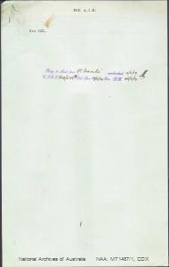 COX (Mrs) - Non AIF - returning to Australia per Ormonde embarked 15 November 1919