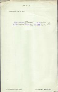 ROPER Edith Mary (Mrs) - returning to Australia per Ormonde embarked 15 November 1919