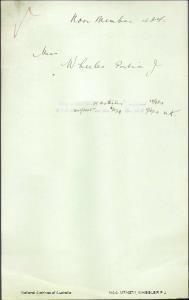 WHEELER Portia J (Miss) - returning to Australia per Osterley embarked 28 September 1919