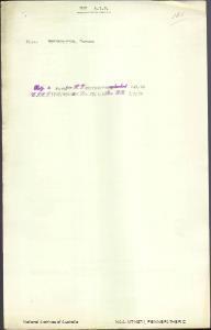 PENNEFATHER Carine - returning to Australia per Friederichsruh embarked 22 January 1920