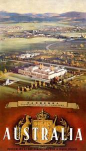 [Australian Travel Posters] Canberra, Australian Capital Territory. [Designer James Northfield - Copyright = James Northfield Heritage Art Trust]