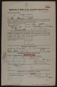 Alt, Leo Herman; age 21; address - Parramatta