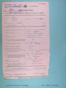 BLACKBURN ARTHUR SEAFORTH : Service Number - SX500503 : Date of Birth - 25 Nov 1892 : Place of Birth - WOODVILLE SA : Place of Enlistment - HAMPSTEAD SA : Next of Kin - BLACKBURN ARTHUR