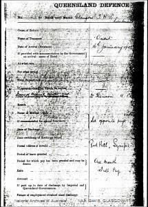 GLASGOW, TW joined 15-1-1901 - Boer War Dossier