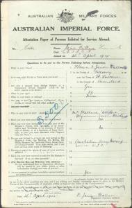 JAMES WALLACE Florence Elizabeth : Service Number - Sister : Place of Birth - St Lawrence QLD : Next of Kin - (Mother) WALLACE Marie