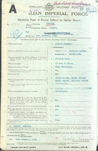 KESSELL Leslie : Service Number - 594 : Place of Birth - Charters Towers QLD : Place of Enlistment - Brisbane QLD : Next of Kin - (Mother) KESSELL Emily