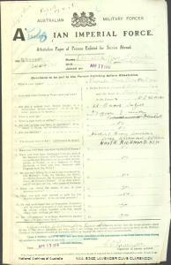 LAVENDER Clive Clarendon : Service Number - 2308 : Place of Birth - Richmond NSW : Place of Enlistment - Wilberforce NSW : Next of Kin - (Father) LAVENDER Henry