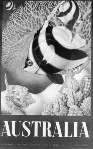 Travel poster of Australia - Barrier Reef [photographic image]. 1 photographic negative: b&w, acetate