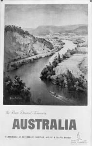 Travel poster of Australia - Derwent Valley, Tasmania [photographic image]. 1 photographic negative: b&w, acetate
