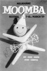 Travel poster of Australia - Moomba festival [photographic image]. 1 photographic negative: b&w, acetate