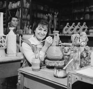 Mrs Turid Gule, from Norway, is now a leading designer in pottery. She migrated to Australia in 1964 with her husband, who is an engineer. They live in Hawthorn, a suburb of Melbourne, Vic