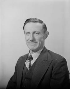 TITLE: Personalities - Mr Charles Frederick Adermann, Minister for Primary Industry CATEGORY: photograph FORMAT: b&w negative TYPE: cellulose acetate STATUS: preservation material