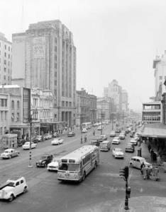 King William Street, Adelaide, South Australia [photographic image]. 1 photographic negative: b&w, acetate