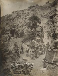 """With the Camera at Anzac"" - ""Dug out"" Life at anzac gully"