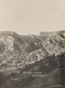 """With the Camera at Anzac"" - Rest Gully - Shewing sphinx"