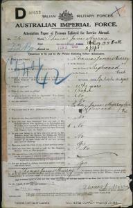 MURRAY Thomas James : Service Number - 216 : Place of Birth - Inglewood VIC : Place of Enlistment - Bendigo VIC : Next of Kin - (Father) MURRAY James