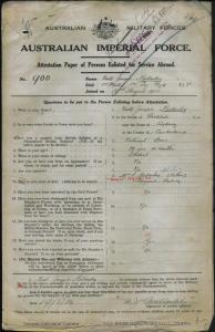 MULLARKEY Niall Joseph : Service Number - 900 Lieutenant : Place of Birth - Sydney NSW : Place of Enlistment - Randwick NSW : Next of Kin - (Mother) MULLARKEY E