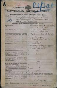 MULLIN Vernon Isaac : Service Number - 2163 : Place of Birth - Melbourne VIC : Place of Enlistment - Melbourne VIC : Next of Kin - (Mother) MULLIN Susan