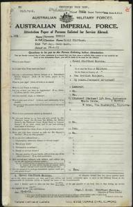 MORRIS Cyril Clifford : Service Number - 469 : Place of Birth - Mildura VIC : Place of Enlistment - Waranga VIC : Next of Kin - (Mother) MORRIS Katherine