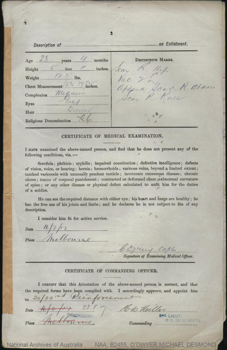 Odwyer michael desmond service number 6867 place of birth odwyer michael desmond service number 6867 place of birth nagambie aiddatafo Choice Image