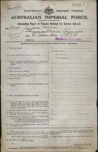 PALMER Charles Reginald : Service Number - Captain : Place of Birth - N/A  : Place of Enlistment - N/A  : Next of Kin - (Wife) PALMER E D