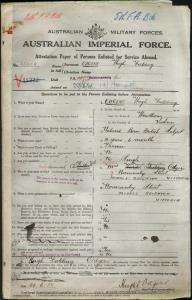 ODGERS Hugh Fielding : Service Number - 35008 : Place of Birth - Hawthorn VIC : Place of Enlistment - Melbourne VIC : Next of Kin - (Mother) ODGERS Frances Annetta