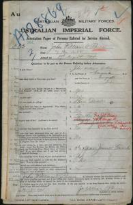 O'BRIEN John William : Service Number - 365 : Place of Birth - Wangaratta VIC : Place of Enlistment - Wangaratta VIC : Next of Kin - (Father) O'BRIEN J