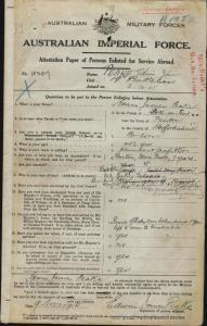 PEAKE Edwin James : Service Number - 4207 : Place of Birth - Stoke On Trent England : Place of Enlistment - Holdsworthy (Holsworthy) NSW : Next of Kin - (Brother) PEAKE W A