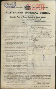RAWLINSON Henry : Service Number - 5212 : Place of Birth - Paddington NSW : Place of Enlistment - Nowra NSW : Next of Kin - (Father) RAWLINSON Charles Henry