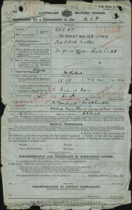 RHEAD Herbert Walter John : Service Number - Captain : Place of Birth - Rockhampton QLD : Place of Enlistment - N/A  : Next of Kin - (Mother) RHEAD Alice Mary