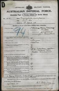 RICKENBERG Harry Edward : Service Number - 155 : Place of Birth - Maryborough QLD : Place of Enlistment - Maryborough QLD : Next of Kin - (Mother) RICKENBERG M