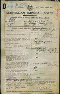 ROBERTS Thomas Albert John : Service Number - 4805 : Place of Birth - Lucknow NSW : Place of Enlistment - Casula NSW : Next of Kin - (Aunt) THOMAS Margaret Hannah