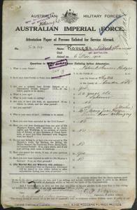 RODGERS Patrick Francis : Service Number - 5214 : Place of Birth - Figtree NSW : Place of Enlistment - Wollongong NSW : Next of Kin - (Mother) RODGERS Mary Jane
