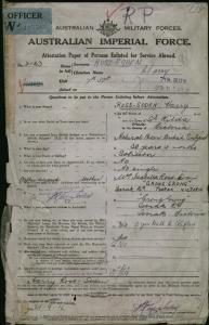 ROSS-SODEN Harry : Service Number - Lieutenant : Place of Birth - St Kilda VIC : Place of Enlistment - Melbourne VIC : Next of Kin - (Mother) ROSS-SODEN Isabella