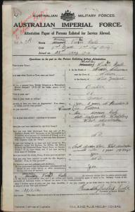 RULE Hedley Vickers : Service Number - 462 : Place of Birth - Nelson New Zealand : Place of Enlistment - Sydney NSW : Next of Kin - (Son) RULE Horace