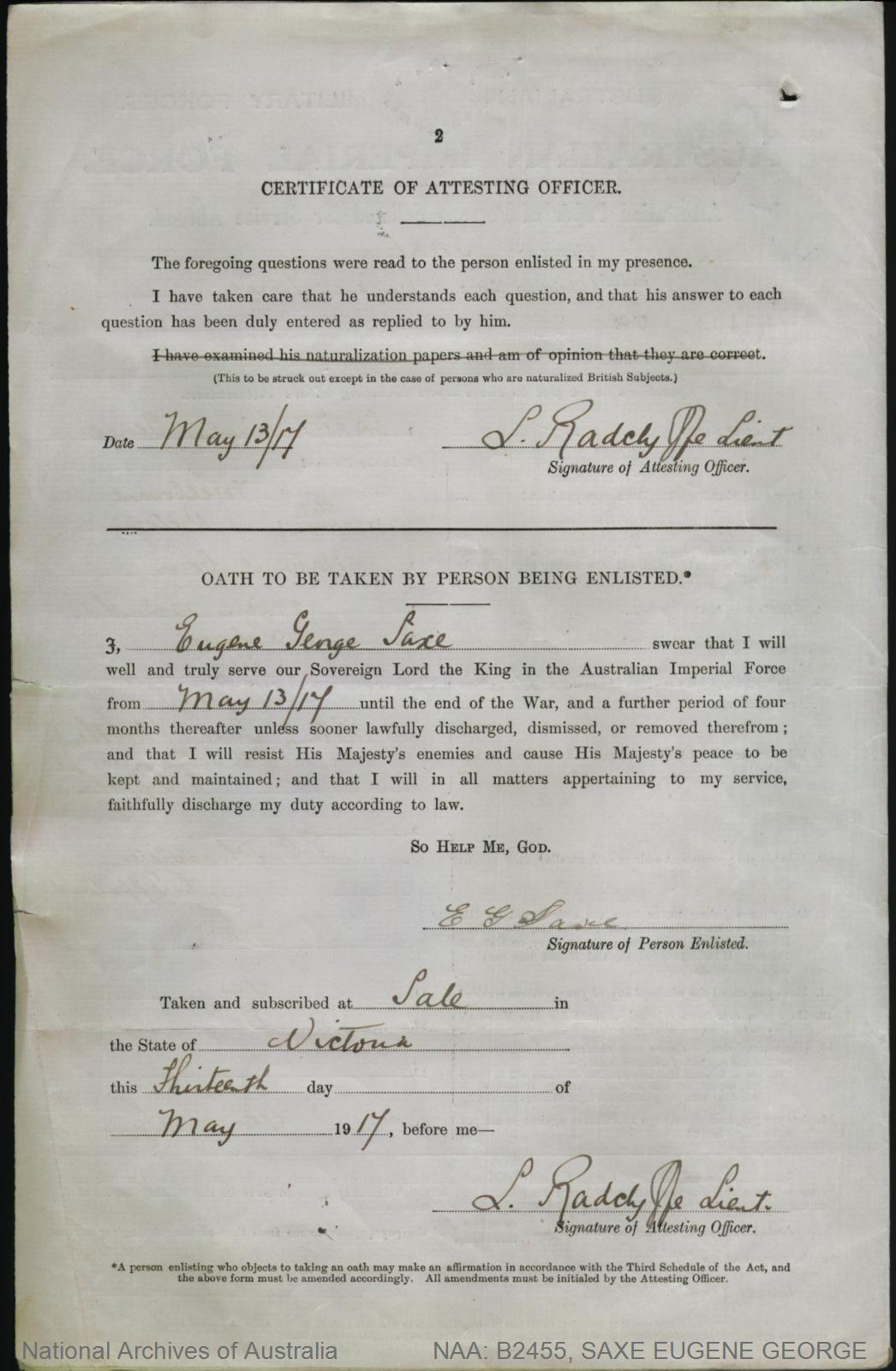 Saxe eugene george service number 2449 place of birth saxe eugene george service number 2449 place of birth melbourne vic aiddatafo Choice Image