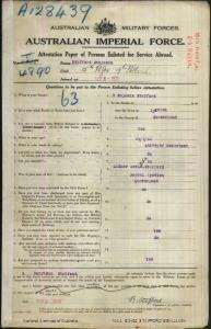 STAFFORD Benjamin : Service Number - 4890 4602 : Place of Birth - Ipswich QLD : Place of Enlistment - Brisbane QLD : Next of Kin - (Mother) STAFFORD Ada