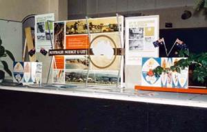Immigration - Promotional Activities - Australian National Travel Association display at the Hague CATEGORY: Photograph PRINCIPAL CREDIT: Department of Immigration and Multicultural and Indigenous Affairs (DIMIA) FORMAT: colour transparency TYPE: cellulose acetate STATUS: preservation material