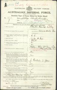 LILLEY Charles Harold : Service Number - 19632 : Place of Birth - Armadale VIC : Place of Enlistment - Melbourne VIC : Next of Kin - (Father) LILLEY Charles William Henry