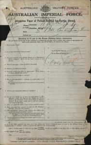 WARD Frederick Greenfield : Service Number - Captain Chaplain : Place of Birth - Acton England : Place of Enlistment - Sydney NSW : Next of Kin - (N/A) WARD Archdeacon