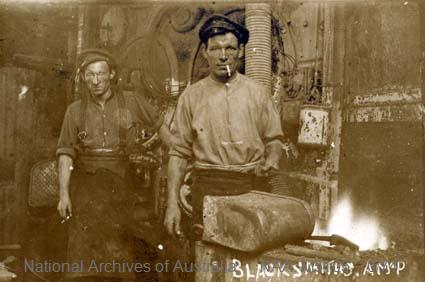 Records of Major Richard Victor Morse DSO (Distinguished Service Order) - World War I - Photograph of blacksmith
