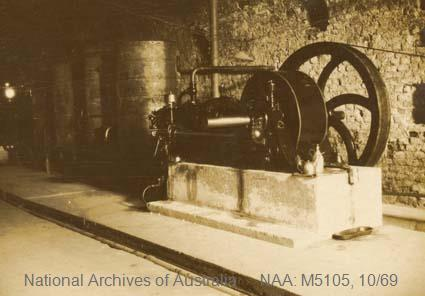 Records of Major Richard Victor Morse DSO (Distinguished Service Order) - World War I - Photograph of underground pumping station