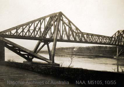 Records of Major Richard Victor Morse DSO (Distinguished Service Order) - World War I - Photograph of bridge over river