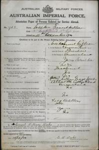 WEEKS Ernest William : Service Number - 748 : Place of Birth - Brisbane QLD : Place of Enlistment - Brisbane QLD : Next of Kin - (Father) WEEKS William George
